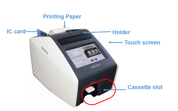 The main use of the TSMC TSMC Rapid Immuno Assay Reader 7001 is to evaluate the rapid test cassettes. The reader is capable of reading more then 2 lines and can be used for batch analysis.  This is a closed system which means it can read all of TSMC's rapid tests. The reader can be effectively used in the Government Laboratories, Clinical Lab or Hospital Laboratory, Device Manufacturing Facilities. See list of rapid test below.